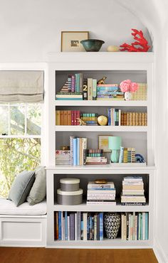 8 tricks for killer bookshelf styling | book shelves and shelves