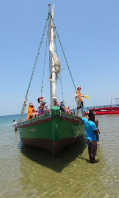Traditional Mozambican dhow boat at Portuguese Island