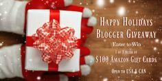 Win a $100 Amazon Gift Card Happy Holidays Blogger #Giveaway via @RandaDerkson