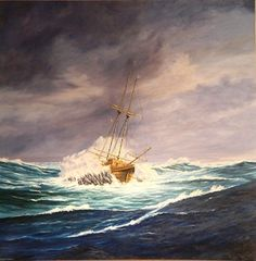 So thankful that my 2 ancestors, Henry Bagwell & William Pierce, survived this! Wreck of the 'Sea Venture' off Bermuda, July 1609 by Christopher Grimes Stephen Hopkins, My Family History, My Ancestors, May Flowers, Ancestry, Genealogy, Places To Travel, Plane, Bermuda Shorts