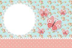 Convite 03 Jardim Encantado Vintage Floral - Kit Completo com molduras para convites, rótulos para guloseimas, lembrancinhas e imagens!