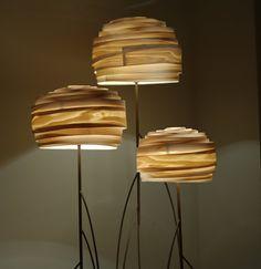 Maple Veneer Roza Floor Lamp by Vayehi on Etsy