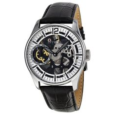 Invicta Men's 12403 Vintage Mechanical Multifunction Silver Dial Watch - Reaching back through time, Invictas Vintage Collection captures the stylish elegance of the past & places it firmly on the wrist of the present. The result of this synthesis includes the Invicta IV logo, dating from 1837, exhibition case backs, antique finished dials, Roman numerals, alarm functions, and leather or stainless steel bands.