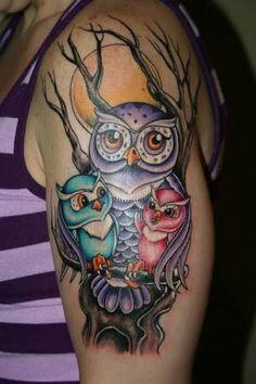 Resultado de imagem para tattoo coruja