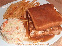 Les plats cuisinés de Esther B: Sauce brune à poutine et à hot chicken Poutine, Hot, Diane, Salad Dressing, Gravy, Fondue, Nutrition, Camping, Chicken