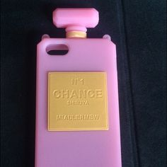 Iphone 5 chain Chance perfume case Shibuya Japan fun pink silicone case with pearl strap SHIBUYA Japan & never used Urban Outfitters Accessories