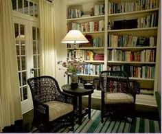 The Library in Diane Keaton's House - From the movie Somethings Gotta Give