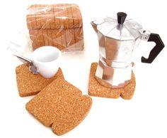 PATRICIA NAVES - Tost ekmeği bardak altlıkları