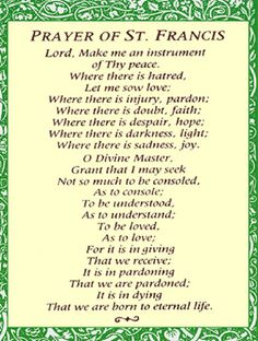 lord make me an instrument of thy peace -