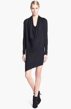 Free shipping and returns on Helmut Lang Cowl Drape Neck Wool Dress at Nordstrom.com. An exaggerated cowl neck and asymmetrical hem define the ultra-modern shape of a long-sleeve dress that's lightweight and easy to wear.