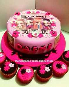 Maricarmen's ca<barbie kes online Store. Pink Parties, Birthday Parties, Birthday Cake, Bts Cake, Cake Online, Aesthetic Iphone Wallpaper, Themed Cakes, Party Cakes, Bt 21