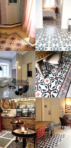 Tiled floor in homes Carpet World, Patchwork Tiles, Discount Area Rugs, Deco Design, Fashion Room, Tile Flooring, Floors, Decoration, Sweet Home