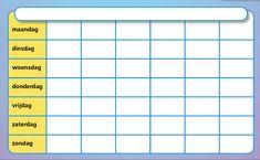 Lege maandkalender. Link naar PDF bestand.