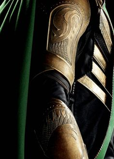 Loki's new armour in the new Avengers film.  Gorgeous detailing.  Looks like the same materials as used by Norton Armouries (i.e. plastics).