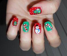 Christmas Nail Designs - My Cool Nail Designs Purple Nail Designs, Elegant Nail Designs, Elegant Nails, Cool Nail Designs, Xmas Nails, Holiday Nails, Christmas Nails, Christmas Ideas, Christmas Night