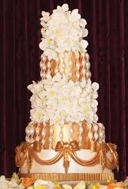Simon Lee Bakery - Austin Cakes - Baroque-inspired wedding cake with gold details