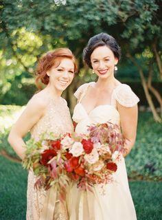 Photography: Jessica Kay Photography - www.jessicakayphotography.com  Read More: http://www.stylemepretty.com/2015/01/02/merlot-blush-gold-wedding-inspiration/