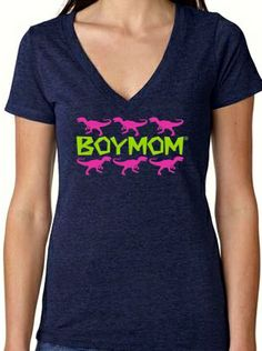 T-Rex Navy: Boymom designs - apparel for moms of boys  50% off A one shirt order using code 10072 65% off a two shirt order using code 20072