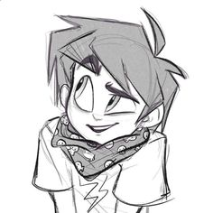 Zeke with his awesome skull scarf designed by @andythelemon #angieocs