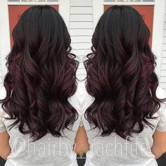 Deep plum ombre. Custom color. Colormelt purple ombre. Purple hair. hair by…