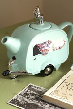 *GIFT IDEA* Know anyone that has an RV or perhaps some folks that collect Teapots? Bet they don't have this one, from across the pond~the Caravan Teapot--A conversation Starter...& is just too adorable!! Available @ pheasantmailorder.co.uk
