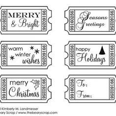 Free Christmas Digital Stamps {Digital Designs}