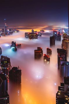 Dubai in a sea of fog