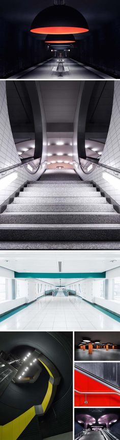 Architectural Photography, Contemporary photographs of subways in Munich, Berlin, Frankfurt andDubai. Nick Frank Photography