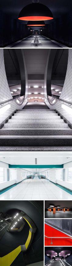 Architectural Photography, Contemporary photographs of subways in Munich, Berlin, Frankfurt andDubai. Nick Frank Photography
