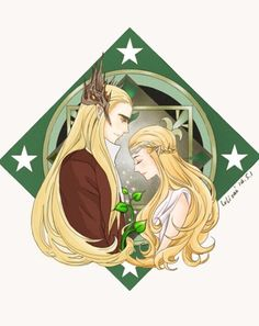Thranduil and his wife by Lolisai