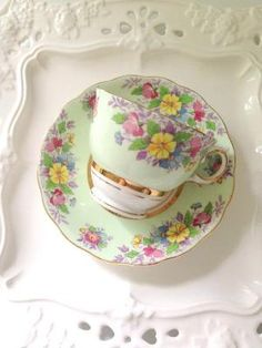 English Bone China Colclough Tea Cup and Saucer Tea Party Thank You or Housewarming Gift Inspiration by Divonsir Borges