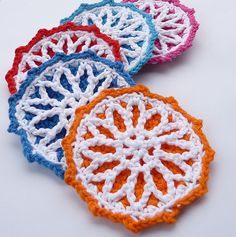 Beautiful coaster to crochet.  Can purchase on Ravelry.
