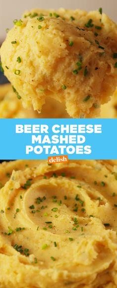 Once you try our Beer Cheese Mashed Potatoes, you'll never go back to regular potatoes again. Get the recipe at Delish.com