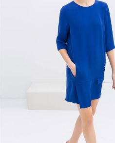 DRESS WITH SEAM AT THE HIP - Dresses - WOMAN | ZARA Poland
