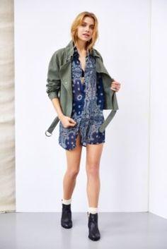 One & Only X Urban Renewal Sheer Chiffon Button-Down Tunic