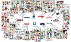 Por trás das centenas de produtos à nossa disposição, apenas 10 empresas são responsáveis pela produção e fabrico de quase tudo o que atiramos...