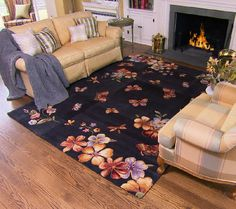 Royal Palace Butterfly Radiance 73 x 93 Wool Rug