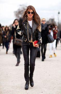 ADR in black and gold again @ Paris Fashion Week