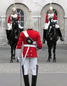 Household Cavalry, The most elite or historically senior military groupings that provide functions associated directly with the Head of State. The British Household Cavalry is made up of two regiments, the Life Guards and The Blues and Royals Queens Guard, Royal Guard, Men In Uniform, Army Uniform, British Monarchy, British Isles, British Army, Lifeguard, London Travel