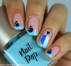 Vicky Loves Nails: 52 Week Pick & Mix Challenge - Domestic Animals/Three Shades of Blue