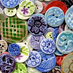 Button Adoration Created by Shelby Frago by heartstoneceramics, via Flickr