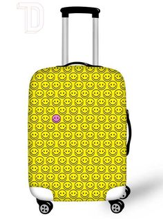Great Design -- Happy luggage cover, From C-MO Backpacks & Luggage Covers. Bleach Uses, Custom Luggage, Luggage Cover, Suitcase, Backpacks, Happy, Fun, Design