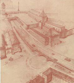 pierwotny projekt Trasy W-Z. wersja z dwoma tunelami, nie zrealizowano ze względów finansowych.