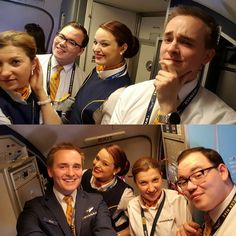 The moment you find a selfiestick and just have to use it... #ryanair #crewfie #cabincrew #flightattendant #dublin #rome #airport #ciampino by wessel_dw