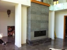 Here is a project that MODE CONCRETE just completed. The quality of our products are extraordinary, have incredible longevity and are too s. Concrete Fireplace, Fireplace Hearth, Fireplace Tiles, Fireplaces, Floor Ceiling, Home Decor Store, Contemporary, Modern, Wood Wall