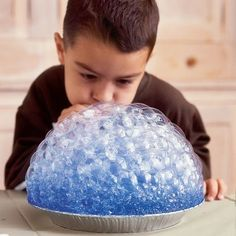 Here's a fun winter activity: bubble printing!