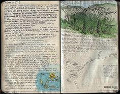 Sierra Trek 2012 journal pages by The Hike Guy - lovely paintings and nice inclusion of a map. Artist Journal, Book Journal, Art Journals, Travel Journals, Moleskine, Diys, Creative Journal, Nature Journal, Art Sketchbook