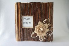 Wedding/Album/Wood wedding album/Rustic photo album/Burlap album/Wooden Album/Country album/Vintage album/Scrapbook/Rustic wedding album/