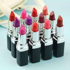 Haute Qualité 12 Différentes Couleurs Sexy Rouge À Lèvres Imperméable durable Lèvres hydratant Beauté Brillant À Lèvres Maquillage Livraison Gratuite