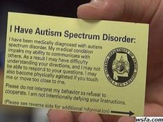 ID cards helping police interact with drivers with autism - Drivers in Alabama who have been diagnosed with autism can now carry around a special identification card to communicate with police and others, says an article in the local NBC news affiliate Aspergers Autism, Adhd And Autism, Autism Parenting, Autism Information, Understanding Autism, Autism News, High Functioning Autism, Autism Sensory, Sensory Toys